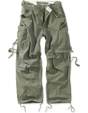 SURPLUS ШТАНИ VINTAGE FATIGUES OLIVE 05-3596-62