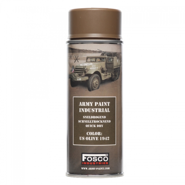 FOSCO PAINT SPRAY ARMY PAINT US OLIVE 400 ML.