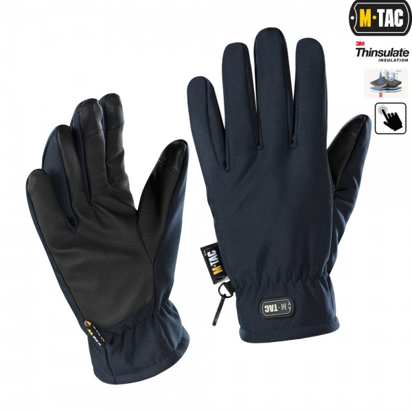 M-TAC ПЕРЧАТКИ SOFT SHELL THINSULATE NAVY BLUE