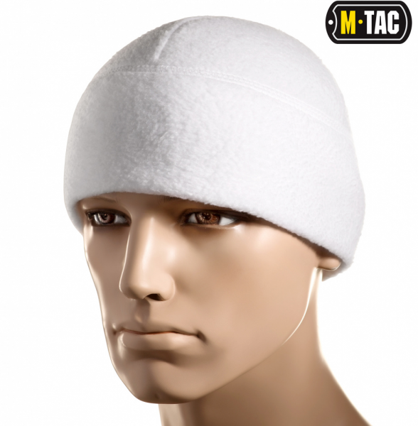 M-TAC ШАПКА WATCH CAP ФЛІС (260Г/М2) WITH SLIMTEX WHITE