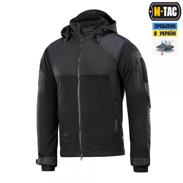 M-TAC КУРТКА NORMAN WINDBLOCK FLEECE BLACK