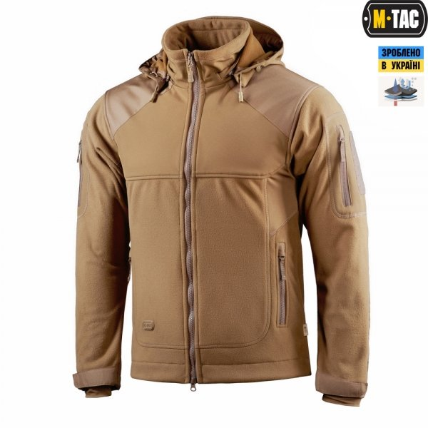 M-TAC КУРТКА NORMAN WINDBLOCK FLEECE COYOTE