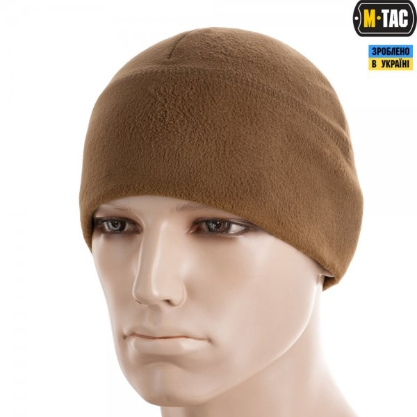 M-TAC ШАПКА WATCH CAP ELITE ФЛІС WINDBLOCK 295 COYOTE BROWN
