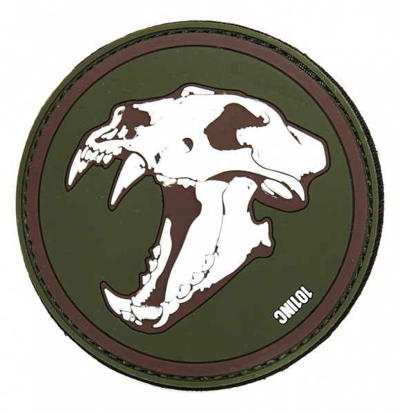 101 INC SABERTOOTH TIGER 3D PATCH GREEN