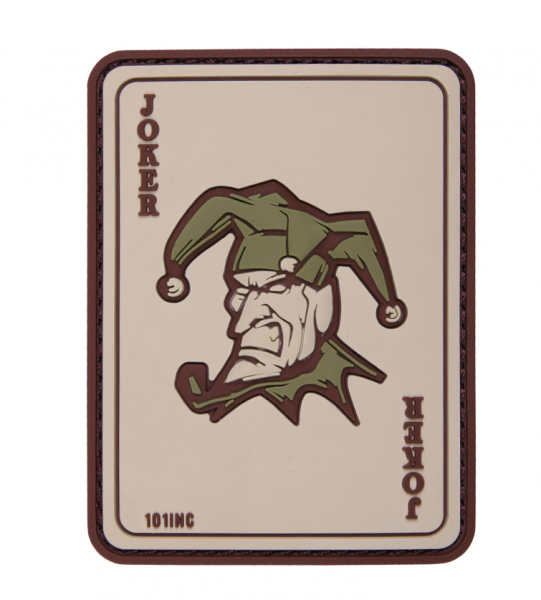 101 INC JOKER 3D PVC PATCH COYOTE
