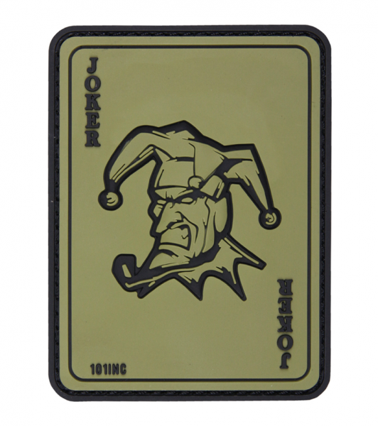 101 INC JOKER 3D PVC PATCH GREEN
