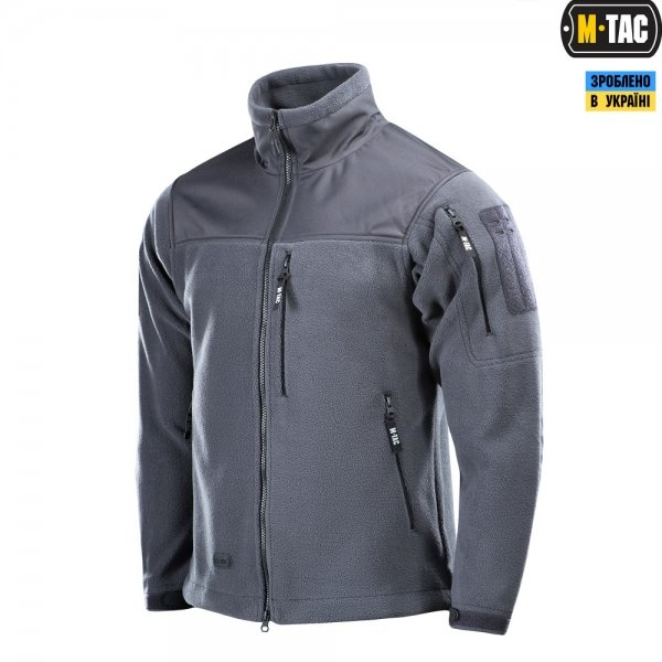 M-TAC КУРТКА ALPHA MICROFLEECE GEN.II DARK GREY