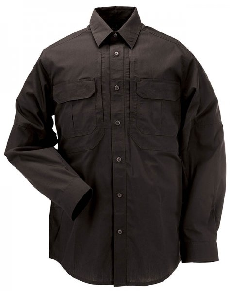 5.11 РУБАШКА TACLITE PRO LONG SLEEVE SHIRT BLACK 72175-019