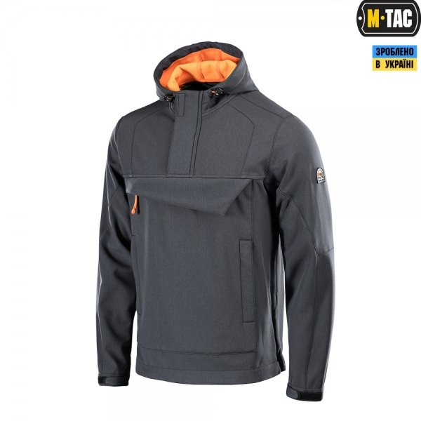 M-TAC АНОРАК SOFT SHELL FIGHTER DARK GREY/ORANGE