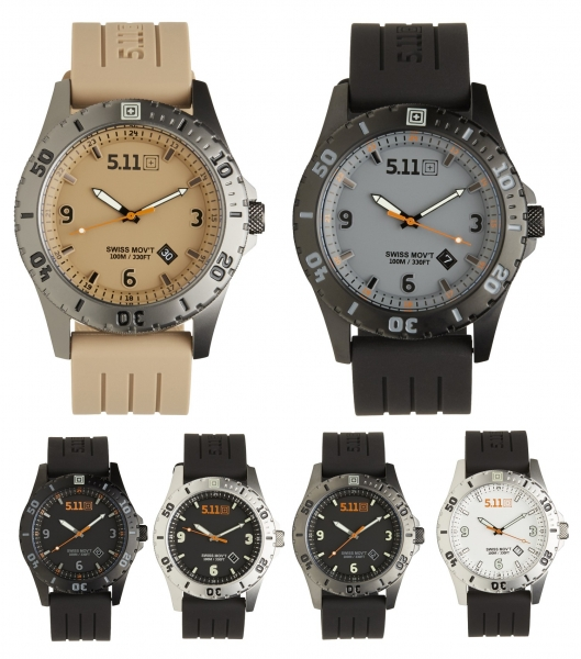 5.11 ЧАСЫ TACTICAL SENTINEL WATCH WHITE 50133
