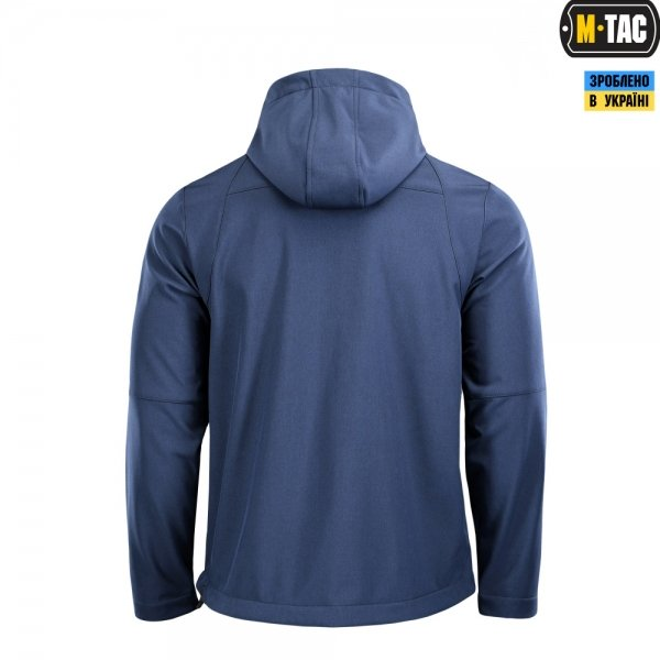 M-TAC АНОРАК SOFT SHELL FIGHTER DARK NAVY BLUE/ORANGE