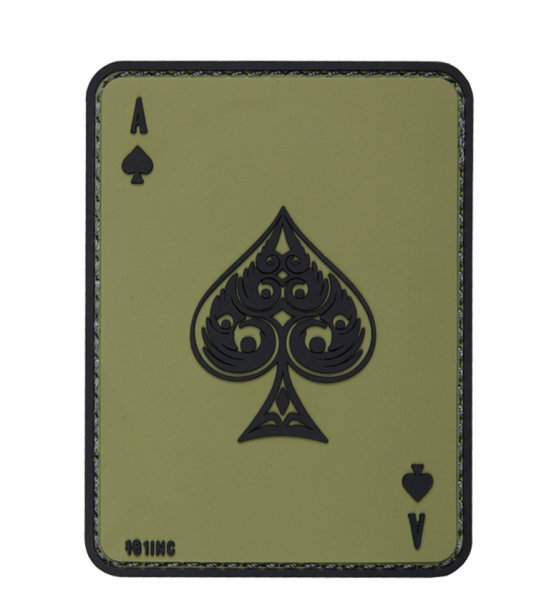 101 INC ACE OF SPADES 3D PVC PATCH GREEN