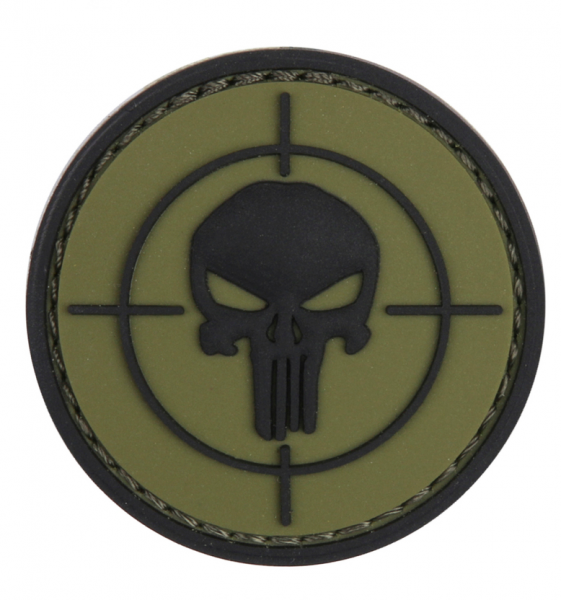 101 INC PUNISHER SIGHT 3D PVC PATCH BLACK/GREEN