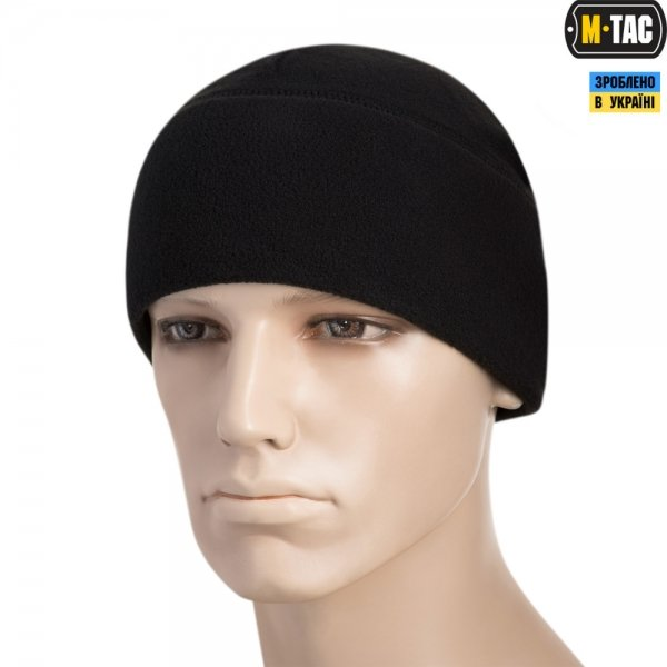 M-TAC ШАПКА WATCH CAP ELITE ФЛІС (260Г/М2) WITH SLIMTEX BLACK