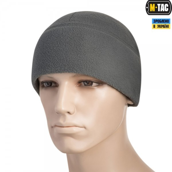 M-TAC ШАПКА WATCH CAP ELITE ФЛІС (260Г/М2) WITH SLIMTEX GREY