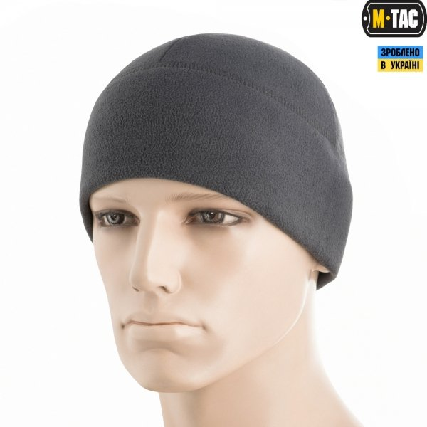 M-TAC ШАПКА WATCH CAP ELITE ФЛИС (260Г/М2) DARK GREY