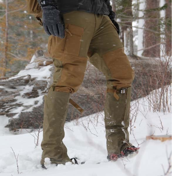 HELIKON-TEX ГАМАШИ SNOWFALL LONG GAITERS CORDURA BLACK H6800-01