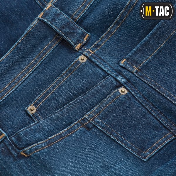 M-TAC ДЖИНСЫ CARGO DARK DENIM REGULAR FIT