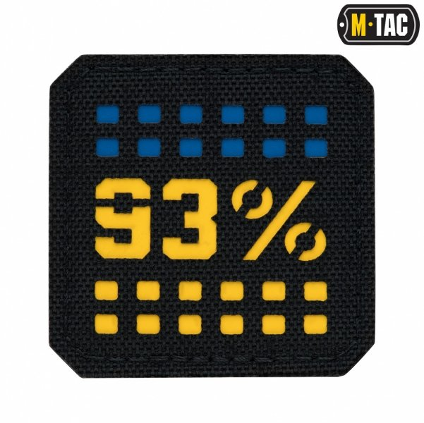 M-TAC НАШИВКА 93% LASER CUT МАЛАЯ YELLOW/BLUE/BLACK