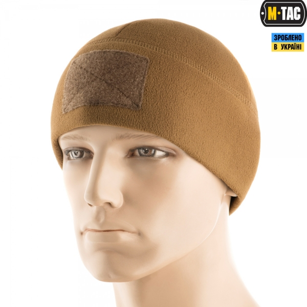 M-TAC ШАПКА WATCH CAP ELITE ФЛІС (270Г/М2) З ЛИПУЧКОЮ COYOTE BROWN