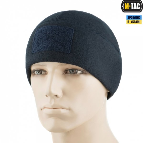 M-TAC ШАПКА WATCH CAP ELITE ФЛІС (270Г/М2) З ЛИПУЧКОЮ DARK NAVY BLUE