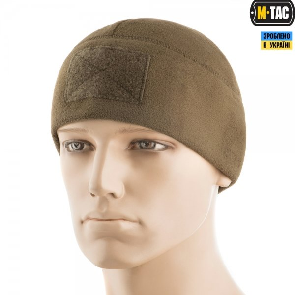M-TAC ШАПКА WATCH CAP ELITE ФЛІС (270Г/М2) З ЛИПУЧКОЮ DARK OLIVE