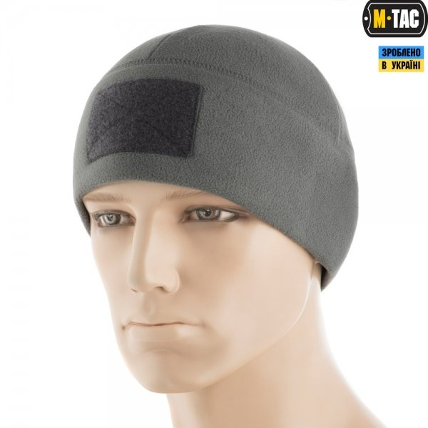 M-TAC ШАПКА WATCH CAP ELITE ФЛІС (270Г/М2) З ЛИПУЧКОЮ GREY