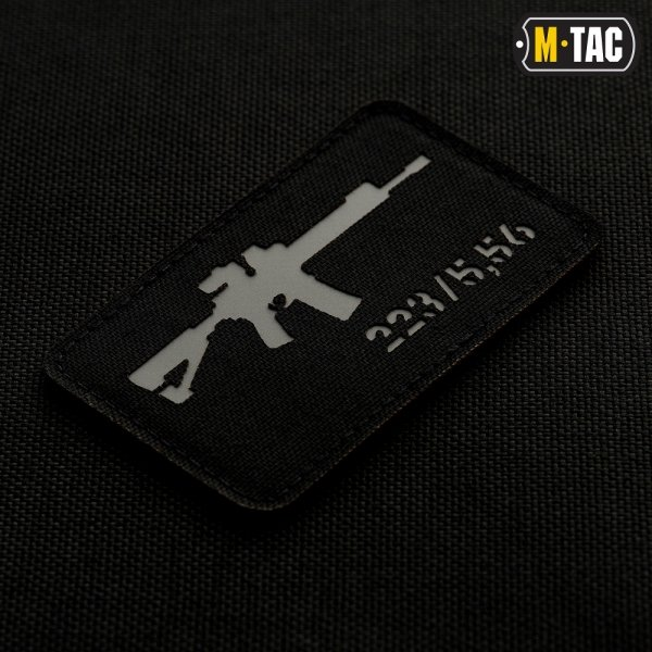 M-TAC НАШИВКА AR-15 LASER CUT GREY/BLACK