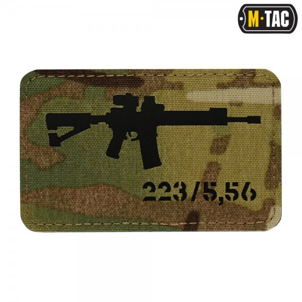 M-TAC НАШИВКА AR-15 LASER CUT BLACK/MULTICAM