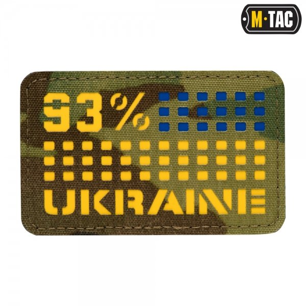 M-TAC НАШИВКА UKRAINE/93% ГОРИЗОНТАЛЬНАЯ LASER CUT YELLOW/BLUE/MULTICAM