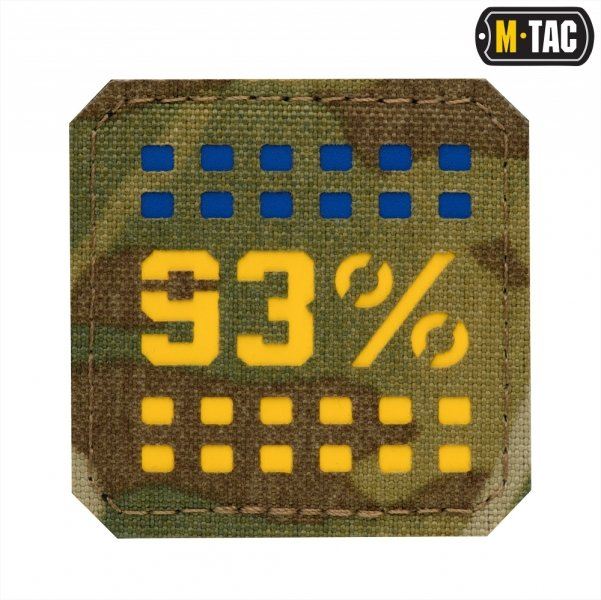 M-TAC НАШИВКА 93% LASER CUT МАЛАЯ YELLOW/BLUE/MULTICAM