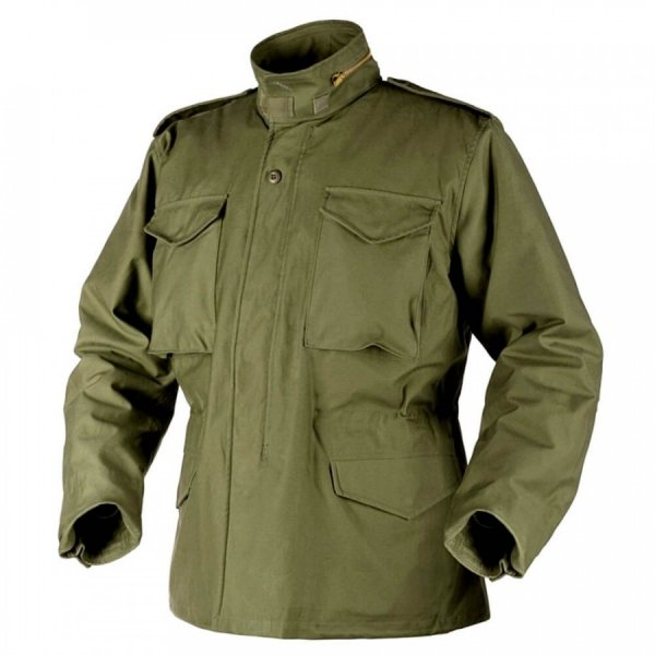 HELIKON-TEX КУРТКА M65 - NYCO SATEEN OLIVE GREEN H1102-02