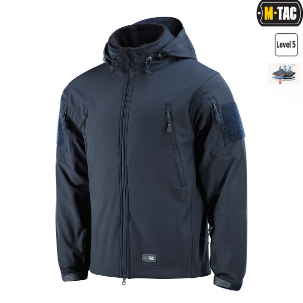 M-TAC КУРТКА SOFT SHELL З ПІДСТІБКОЮ DARK NAVY BLUE