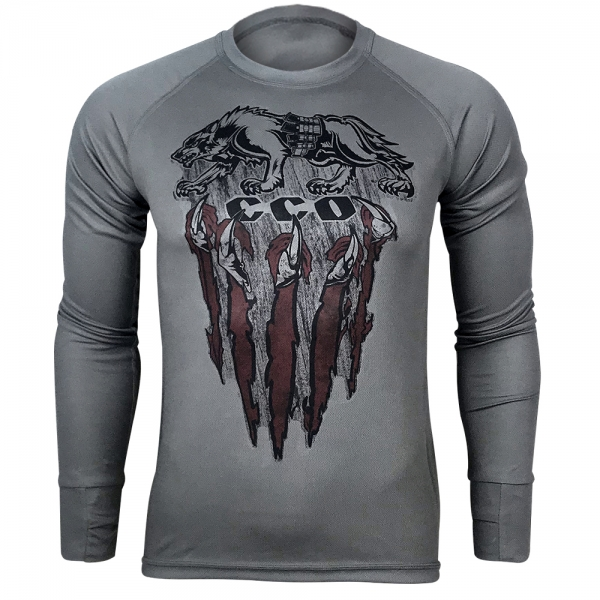 KRAMATAN TACTICAL DESIGN ЛОНГСЛІВ ССО ВОВКУЛАКА COOLMAX GREY