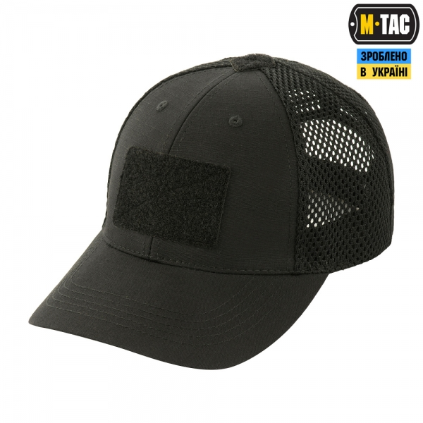 M-TAC БЕЙСБОЛКА ТАКТИЧНА З СІТКОЙ ELITE FLEX BLACK